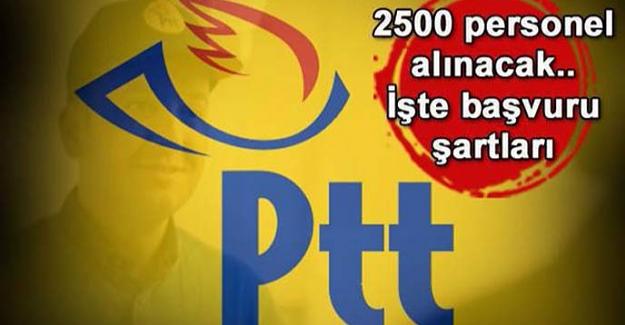 PTT personel alımı yapacak