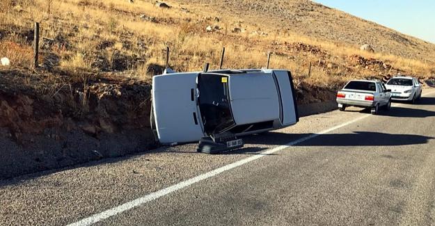 Belan yolunda otomobil devrildi: 3 yaralı