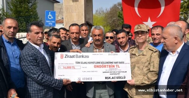 Öğrenci servislerinden Mehmetçiğe destek
