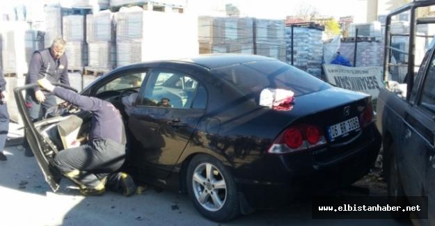 Elbistan'da trafik kazası: 1 kişi yaralandı