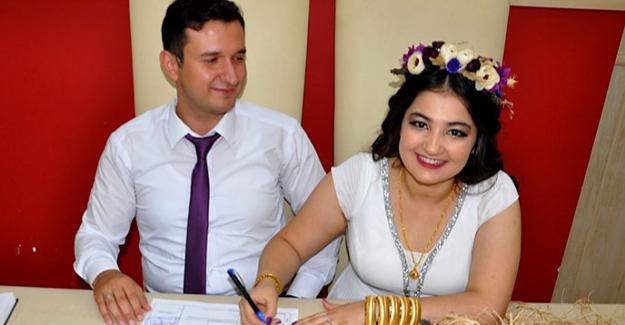 Elbistan'da 08.08.2018'de nikah yoğunluğu