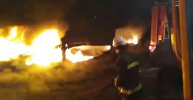 AEL İşletme müdürlüğünde yangın çıktı