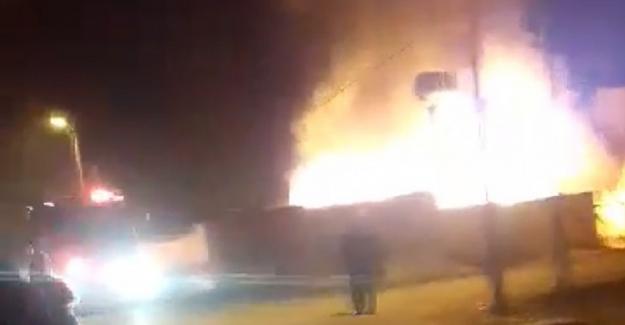 Elbistan'da yangın: 1 ev kullanılamaz hale geldi