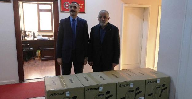 ETSO'dan Elbistan Adliyesi'ne cihaz desteği