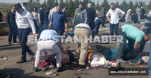 Elbistanlı işçileri taşıyan minibüs devrildi! Çok sayıda ölü ve yaralı var!