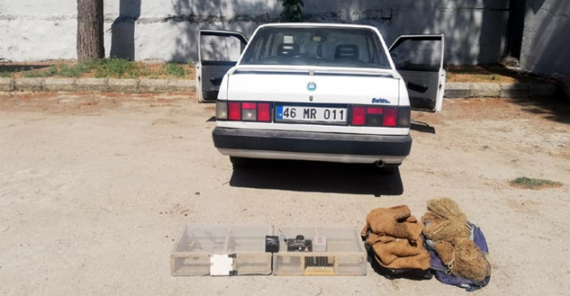 Saka kuşlarını yakalayan avcıya 7 bin 200 lira ceza