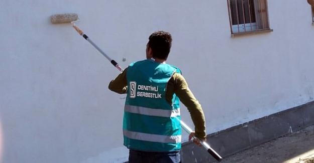Elbistan'da okulların onarımı hükümlülere emanet