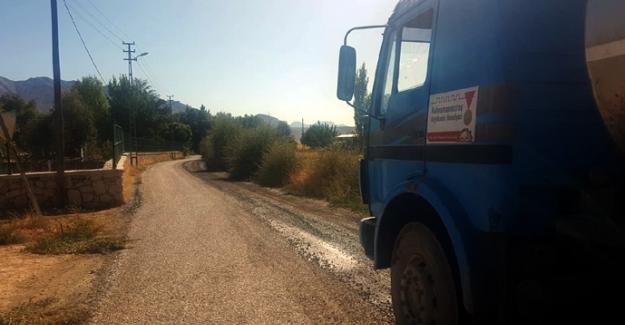 Elbistan'da Grup Yolları Asfaltlanıyor