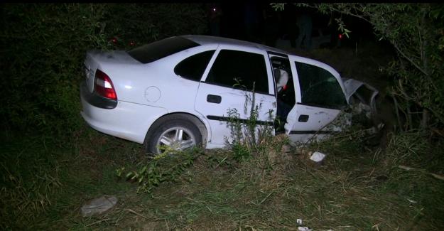 Otomobil su kanalına düştü: 1 ölü,3 yaralı