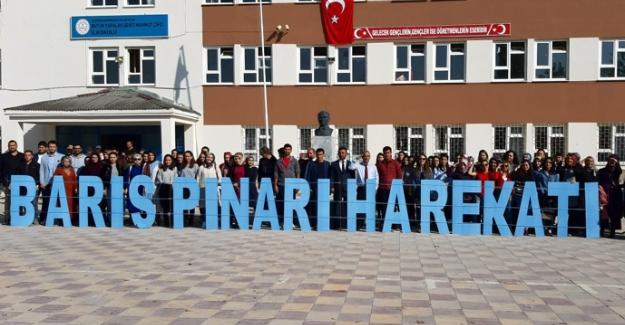 Büyükyapalak'tan Barış Pınarı Harekatına destek