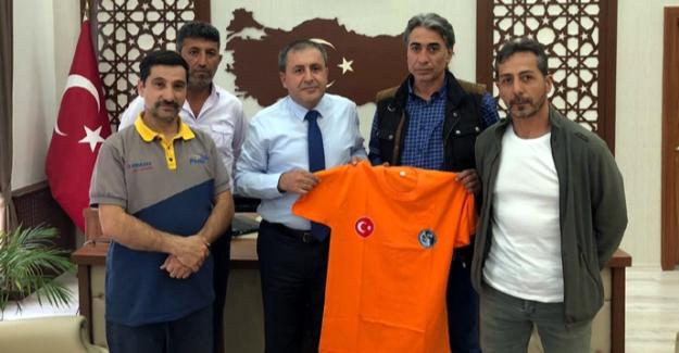 ELKUD ekibinden kaymakam Özkan Demir'e ziyaret