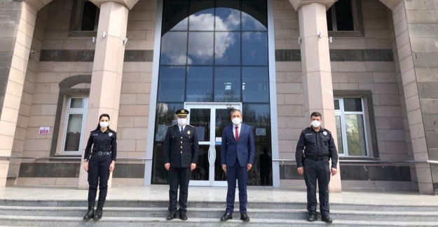Emniyet teşkilatından Kaymakam Demir'e polis haftası ziyareti