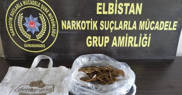 Ekinözü'nde 6 kilo 210 gram esrar maddesi ele geçirildi