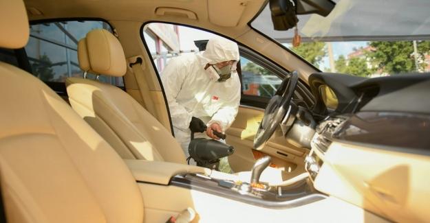 Elbistan belediyesinden araçlara ücretsiz dezenfeksiyon