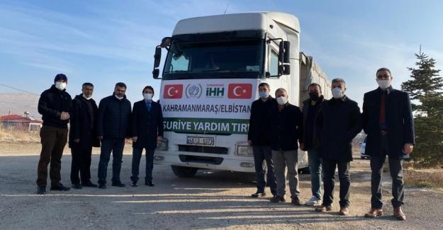 Elbistan İHH'dan Suriye'ye un yardımı