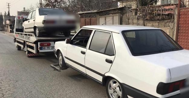 Polis denetimine takılan 116 araç trafikten men edildi