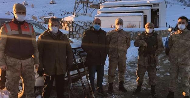 Yasadışı avlanan 9 avcı yakalandı
