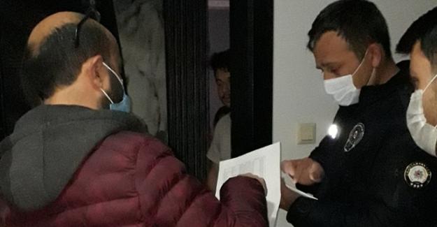 Polis apart ve stüdyo daireleri denetledi
