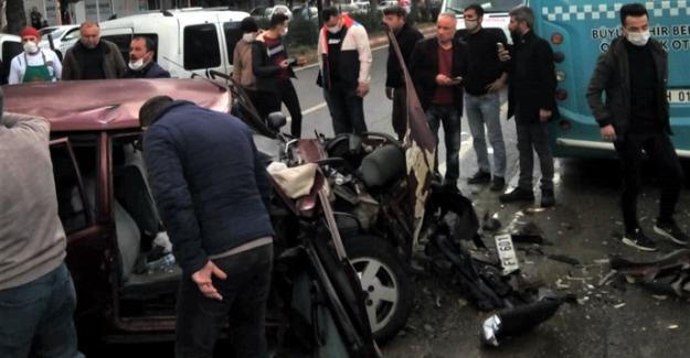 Zincirleme trafik kazası: 1 ağır 3 yaralı