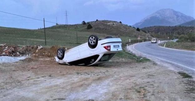 Göksun-Elbistan yolunda kaza: 1 yaralı