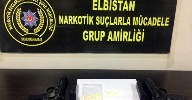 Elbistan'da uyuşturucudan bir kişi tutuklandı