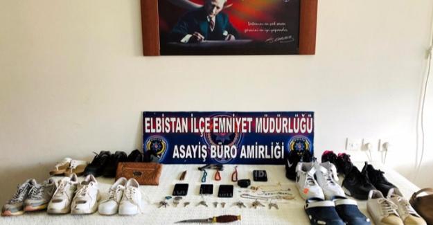 Elbistan'da 6 farklı hırsızlık olayının failleri tutuklandı