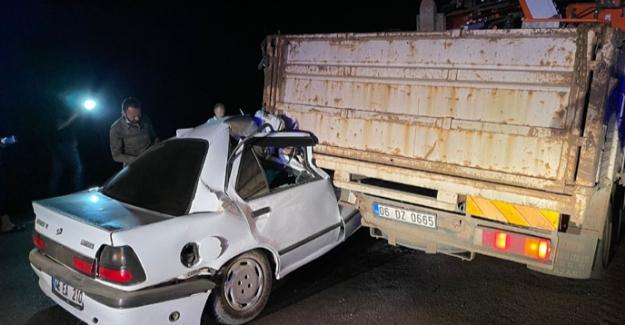 Elbistan'da feci kaza: 1 yaralı