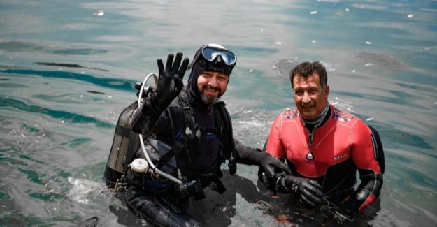 Pınarbaşı'nda tüplü dalış etkinliği yapıldı