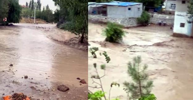 Elbistan'da sele karşı uyarı anonsları yapılıyor