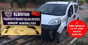 Polisten kaçan araç kaza yaptı