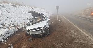 Yoğun sis kazaya neden oldu: 3 yaralı