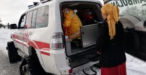 112 ekipleri hamile hasta için seferber oldu