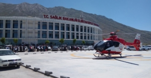 Ambulans helikopter Fatma Gül için havalandı