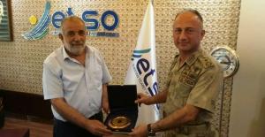 Jandarma Komutanından ETSO'ya teşekkür plaketi