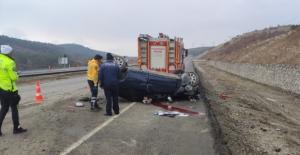Elbistan'da gurbetçi aile kaza yaptı:...