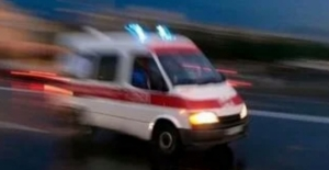 Elbistan'da inşaat iskelesi çöktü: 2 işçi yaralandı