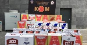 350 bin TL değerinde kaçak makaron ele geçirildi