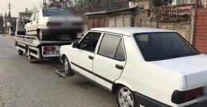 Polis denetimine takılan 116 araç...