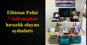 Polis 7 faili meçhul hırsızlık olayını aydınlattı