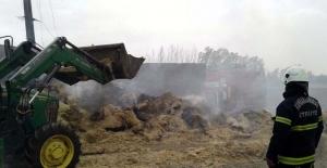 Karaelbistan'da samanlık yangını