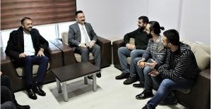 Mehmet Gürbüz'den Haber Ofisimize Nezaket Ziyareti