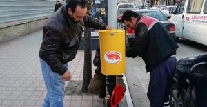 Şehir merkezine 400 adet küçük çöp kutusu bırakıldı