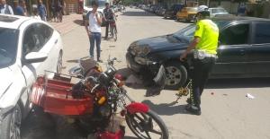 Feci kazada sürücünün bacağı koptu