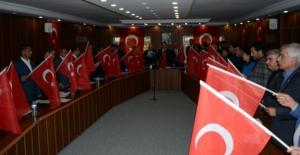 Elbistan Belediye Meclisinden 'Barış Pınarı Harekatı'na destek