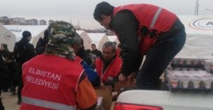 Elbistan Belediyesi, Elazığ'da yaraları sarıyor