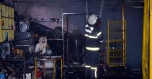 Elbistan'da küçük sanayi sitesinde yangın