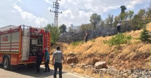 Nurhak'ta 20 dönüm ormanlık alan küle döndü
