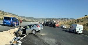 Göksun yolunda kaza: 1 yaralı