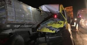 Elbistan yolunda feci kaza: 1 ölü, 1 yaralı