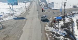Elbistan'da jandarma dronla denetim yapıyor